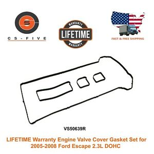 Lifetime Warranty Engine Valve Cover Gasket Set For 05 08 Ford Escape 2 3l Dohc