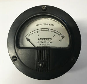 1 simpson 0 3 Radio Frequency Amperes Meter Model 136 mr25w003rlaa Used Usa