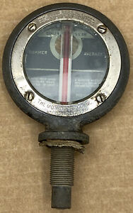 Antique Boyce Moto meter Temperature Gauge mirror radiator Cap Hood Ornament