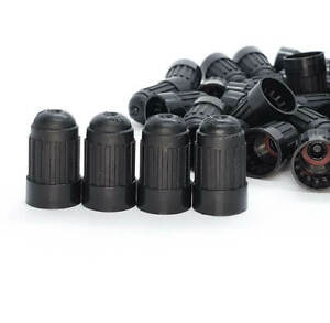 Dill 635 Dome Tire Valve Stem Caps Extended Black Plastic