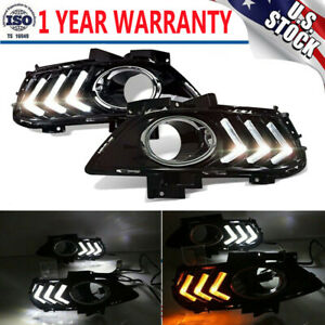 For Ford Fusion 2013 2016 Led Daytime Running Light Driving Fog Lamp 2 Color Drl