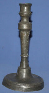Antique Pewter Candlestick