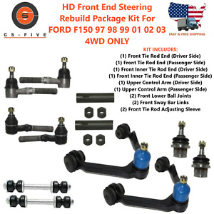 Hd Front End Steering Rebuild Package Kit For Ford F150 97 98 99 01 02 03 4wd