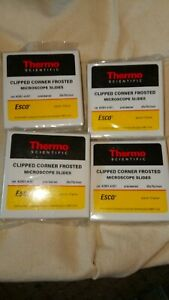 Lot Of 4 Thermo Scientific Clipped Corner Frosted Microscope Slides 2951 4 001