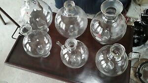 Set Of 6 Assorted Lab Glass Round Bottom Flasks ace Glass Pyrex 1000 2000ml