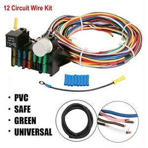 New 12 Circuit Universal Wiring Harness Muscle Car Hot Rod Street Rod Xl Wires
