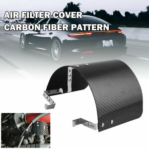 Stainless Steel Air Filter Cover Heat Shield Carbon Fiber Pattern