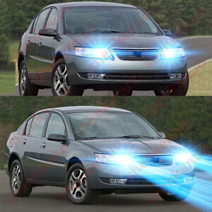 For Saturn Ion 2003 2007 2pc 8000k Ice Blue Led Headlight High Low Beam Bulbs