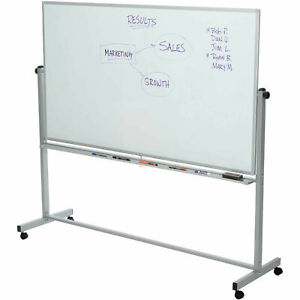 Rolling Magnetic Dry Erase Whiteboard Double Sided Reversible 72 X 40