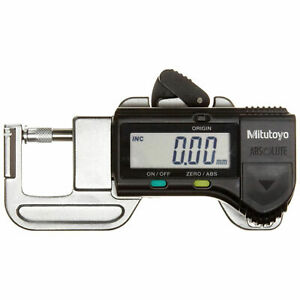 0 50 0 12 7mm Digimatic Compact Digital Thickness Gage