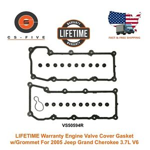 Lifetime Warranty Engine Valve Cover Gasket W grommet For 05 Jeep Grand Cherokee