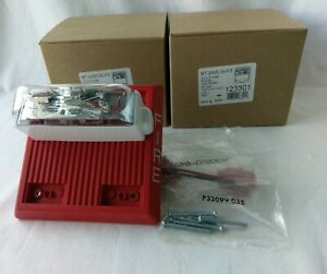 Cooper Wheelock Mt 24mcw fr Fire Alarm Chime Strobe 24 Vdc Wall Red 123301