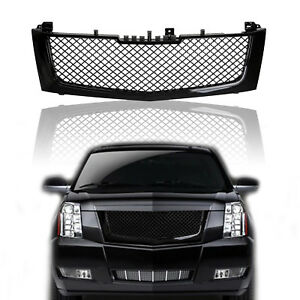 For 02 06 Cadillac Escalade Glossy Black Honeycomb Mesh Hood Grille Us