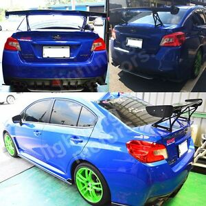 Unpainted V Style Rear Trunk Spoiler Wing For Subaru Wrx Sti Sedan 2012 2016