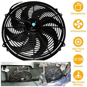 16 Inch Electric Radiator Cooling Fan 12v Relay Thermostat Kit W Mounting Kit