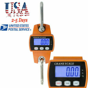 Crane Scale 300kg 660lbs Industrial Hook Hanging Weight With Digital Lcd Display