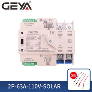 Pv Solar Automatic Transfer Switch 2p 63a 110vac Solar Inverter To Grid 50 60hz