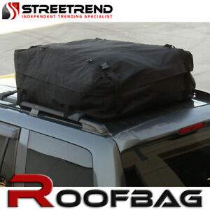 New Universal Waterproof Roof Top Cargo Carrier Bag Travel Luggage Storage Black