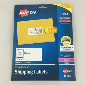 Avery Shipping Address Labels Laser Inkjet Printers 100 Labels 2x4 Labels