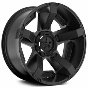 18 Xd Wheels Xd811 Rockstar 2 Satin Black Off Road Rims Qty 4