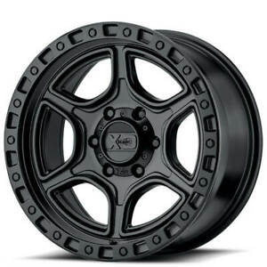 18 Xd Wheels Xd139 Portal Satin Black Off Road Rims Qty 4