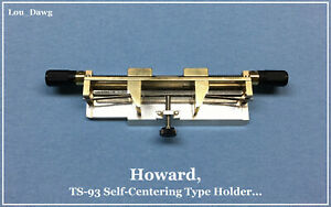 Howard Personalizer Ts 93 Selfcentering Typeholder Hot Foil Stamping Machine