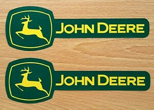 Two John Deere Fade Resistant 7 75 X 2 5 Vinyl Decal Stickers Free Usa Flag