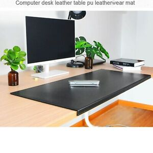 Non slip Soft Pu Leather Like Surface Office Desk Mat Pad With Full Grip Lip