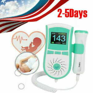 Pocket Fetal Doppler Heart Beat Rate Monitor Detector Fhr 3mhz Probe Pregnancy