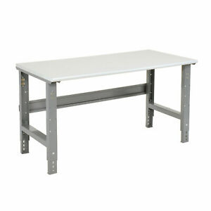 Adjustable Height Workbench C channel Leg 48 w X 30 d 1 1 4 Esd Safety Edge