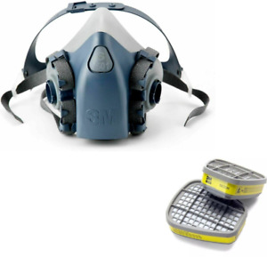 3m 7500 7501 Half Facepiece Respirator Small With 3m 6003 Cartridge Filters