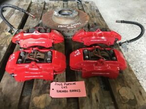 02 05 Porsche 996 911 C4s Carrera Oem Brembo Red Front Rear Calipers 82k