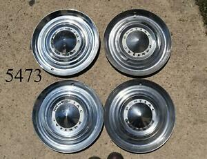 1953 Pontiac Chieftain Deluxe Catalina Set Of 4 Hubcaps Wheel Covers 53 15 Oem