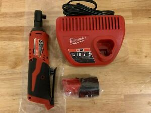Milwaukee 2457 20 M12 12 volt 3 8 inch Ratchet Charger Battery 2ah New
