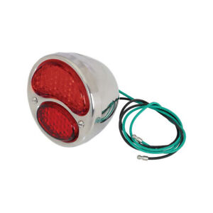 Model A Ford Led Tail Light Assembly All Red 6 Volt Positive Ground