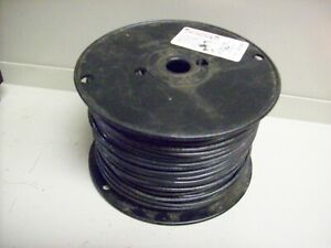3 New Spool Of Electric Wire 14 Guage Solid 500 Black