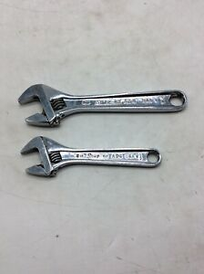 You Get Both Snap On 6 And 8 Adjustable Wrenches Ad6 Ad8 Poor Chrome Lot