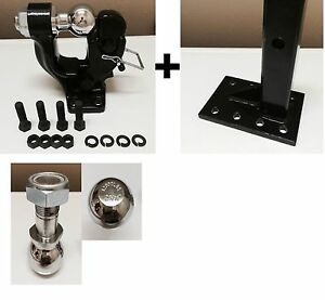 5 Ton Pintle 2 5 16 2 Ball Adjustable Receiver Ball Hitch Towing