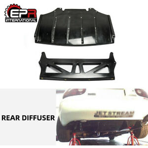Frp Unpainted Rear Bumper Diffuser Lip Js style For Mazda Mx5 Na Miata Roadster