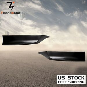 For 2013 2015 Honda Accord 4dr Hfp Style Black Pu Rear Bumper Spoiler Lip 2pcs