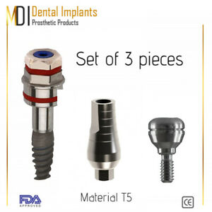 Dental Implant Sterile With Straight Abutment Healing Cap For Dentistry Lab