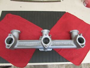 Vintage Chevrolet Six Cylinder Offenhauser Equipment Triple Carb Intake Manifold