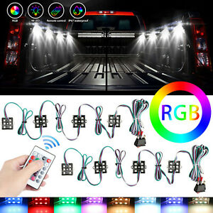 8pcs 48 Led Rock Lights Truck Bed Under Body Led Lighting Rgb Control Ir Remote