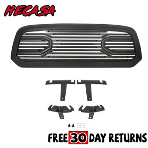 Front Big Horn Black Packaged Bumper Grille shell For 2009 2012 Dodge Ram 1500