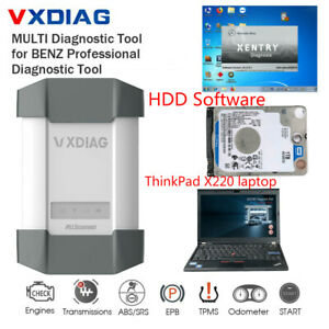 Vxdiag Multi Diagnostic Tool With Xentry Software Hdd Lenovo X220 Laptop