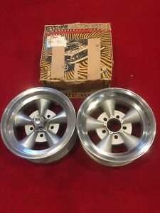 Keystone Digger Vintage Aluminum Mag Wheels Pair Nos And Used Hot Rat Rod Gasser