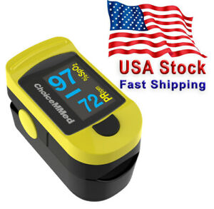 Fingertip Pulse Oximeter Spo2 Blood Oxygen And Pulse Rate With Case Choicemmed