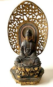 Antique Japanese Gilt Lacquer Kwan Yin