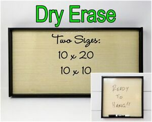 Framed Wooden Dry Erase Board Ready To Hang Size Options