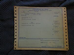 1940 Ford 2 Dr Or Coupe Title Vintage Historical Document